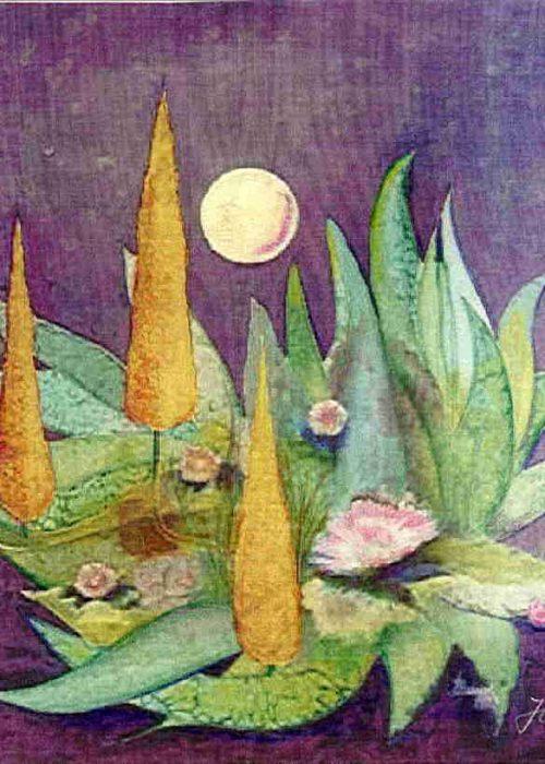 Maler Dr. Jürgen Haupt - Mondblüten Farbe